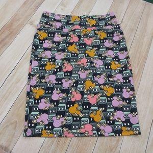 Lularoe Mickey Mouse Pencil Skirt Size Large